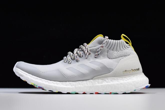 100% authentic well known detailed pictures 2018 adidas Ultra Boost Mid White/Mutlticolor-White G26842 ...