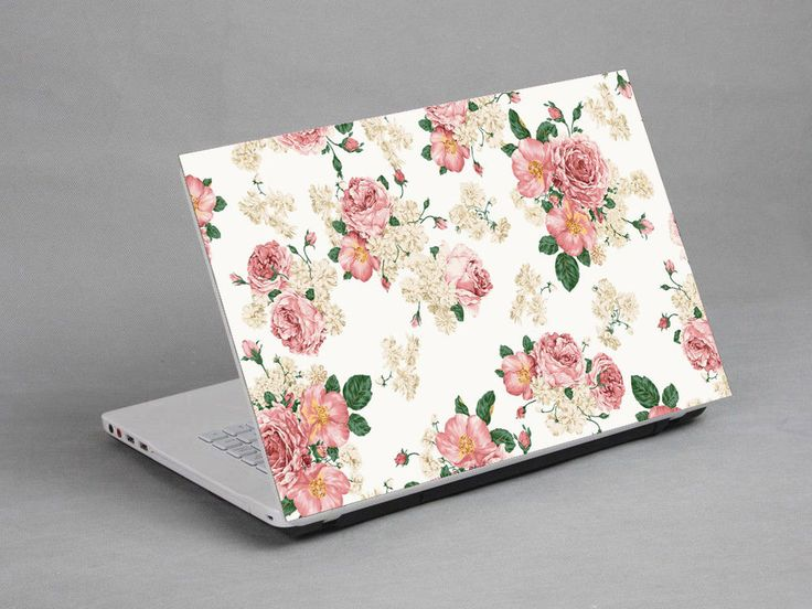 """14-15.4""""  Laptop Notebook Sticker Cover Decal Flower Sony Dell HP Acer Lenovo - WANT. cute af"""