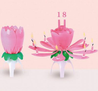 These Lotus Flower Number Birthday Candles Will Definitely Wow The Crowd Candle
