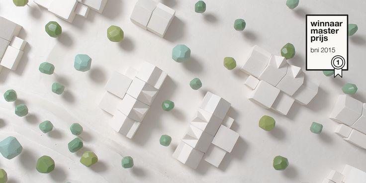 onderzoeksmaquette over de herstructurering van tuindorp Jekerdal te Maastricht, ontworpen door De Nieuwe Context en bekroond met de BNI prijs 2015.