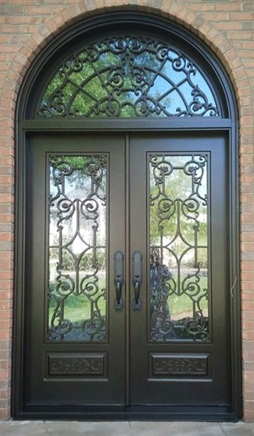 17 Best Images About Wrought Iron Steel Storm Doors On