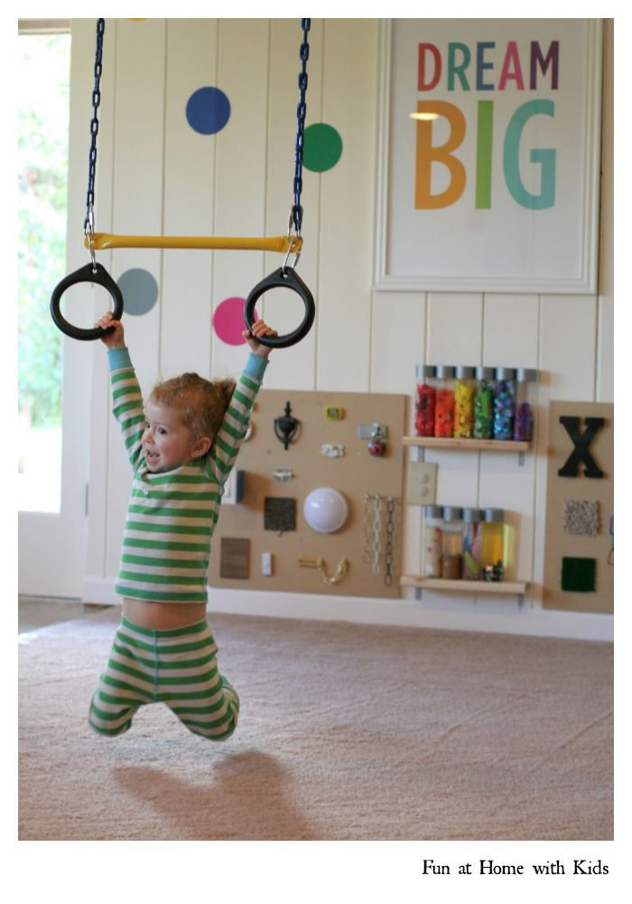 Playroom design - a tour of our playroom remodel (with before and after pictures) from Fun at Home with Kids