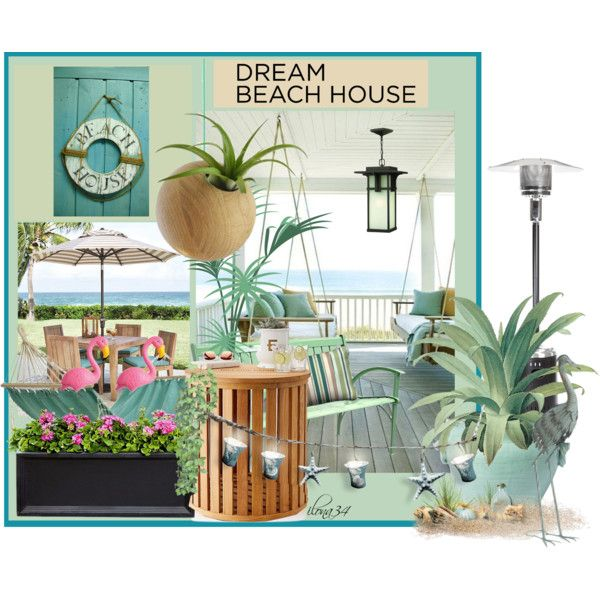 Dream Beach House #1 by ilona2010 on Polyvore featuring interior, interiors, interior design, maison, home decor, interior decorating, Home Decorators Collection, Campania International, Mark & Graham and Decoris