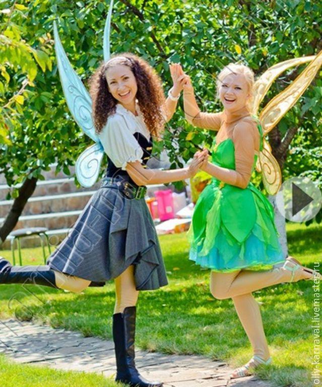 """Купить Костюм феи Динь-динь, м/ф """"Феи пиратского острова"""" - ярко-зелёный #ДиньДинь, #ФеиПиратскогоОстрова , #Disney, #TinkerBell, #cosplay #ThePirateFairy #Zarina, #costume"""