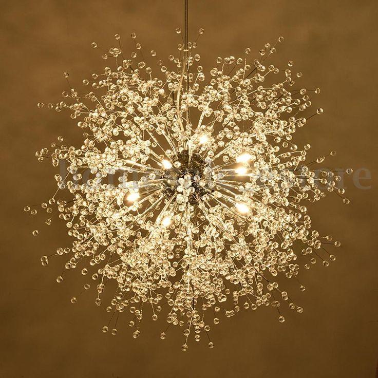 Modern Dandelion Led Chandelier Fireworks Pendant Lamp Ceiling Lights Home Decor