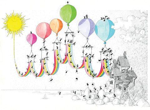 Puzzle arcobaleno.   #formiche #puzzle #regalo #arcobaleno