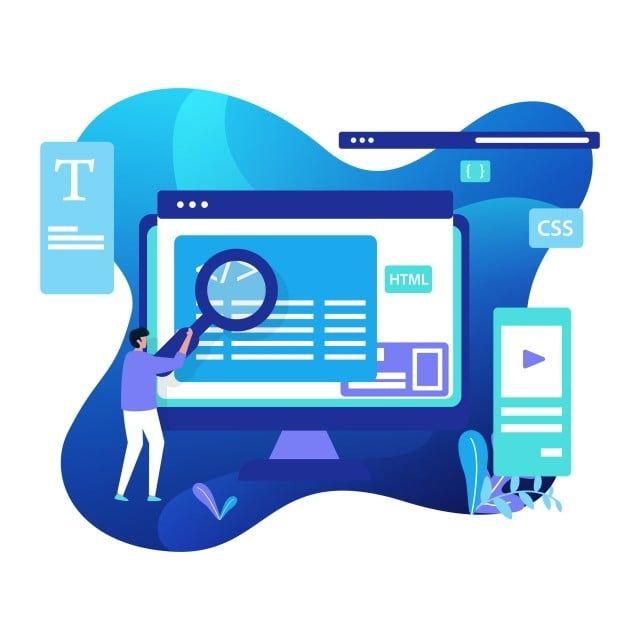 تطوير الويب التوضيح والحديث يمكن استخدام الصفحات المقصودة الويب واجهة المستخدم Png والمتجهات للتحميل مجانا Fun Website Design Web Template Design Web Development