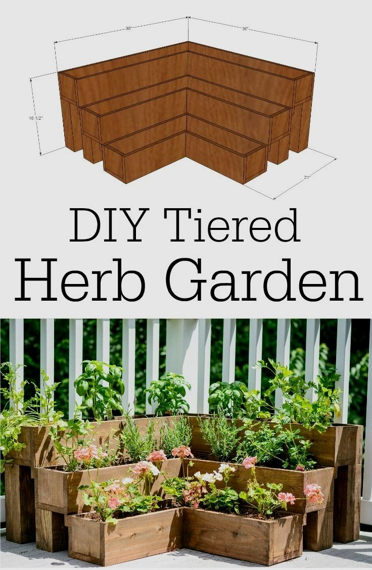 Diy Tiered Herb Garden Tutorial Decor And The Dog Backyard Ideas For Small Yards Backyard Garden Diy Garden Small backyard herb garden ideas