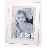 "3 1/2"" x 5"" Shiny Silver Engraved Photo Frame#Bridesmaidgift #weeding #gift #Photoalbum cheapgroomsmengifts.com"