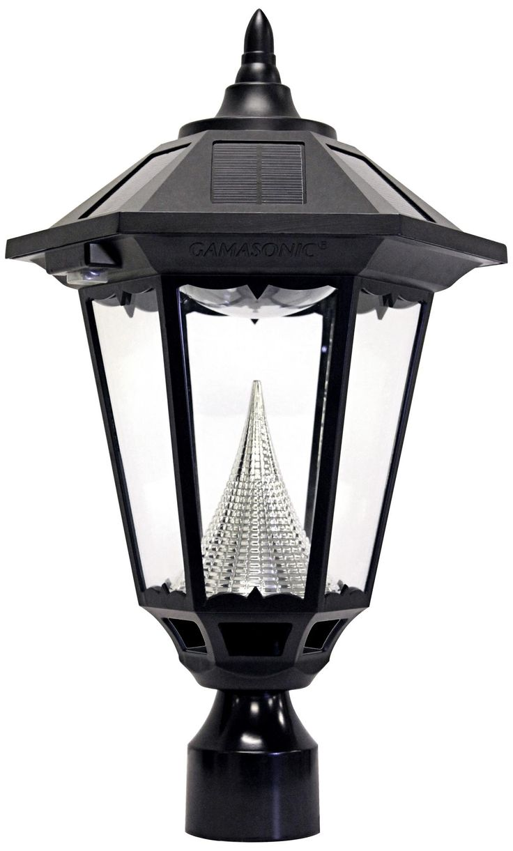 "Windsor Black 20"" High Solar Lantern Post Light"