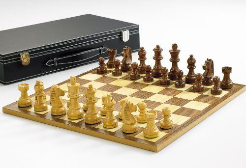 Wooden Chess Set With King   3