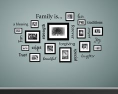 The Family is... Wall Decal is available in the color of your choice. See the color chart for your options. The photographs are for a reference be sure to use the measurements when ordering. All 15 de