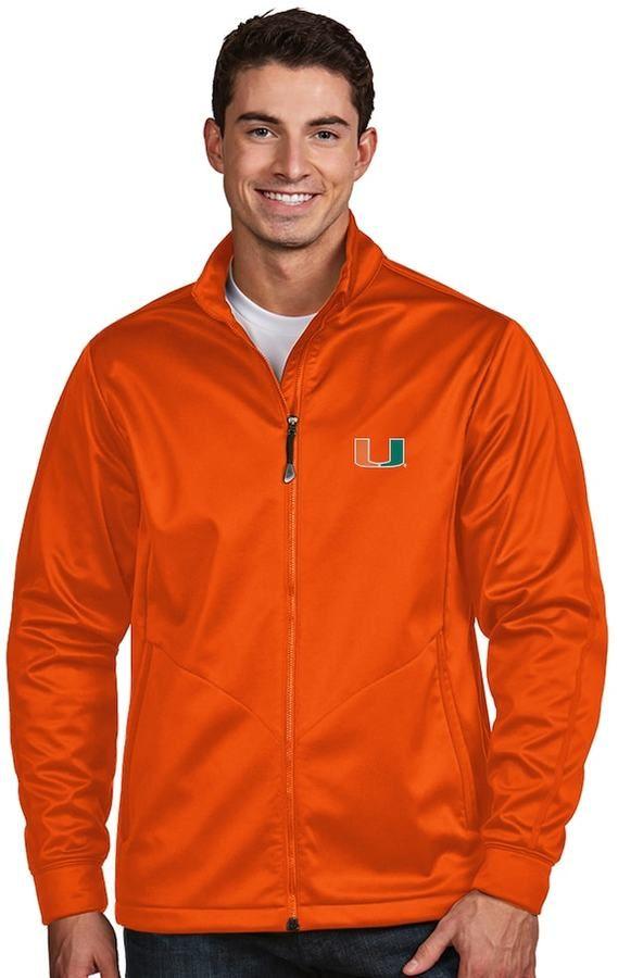 Antigua Men's Miami Hurricanes Waterproof Golf Jacket