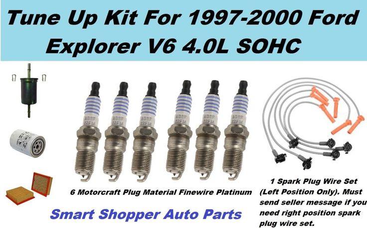 99-00 Ford  Explorer V6 4.0L SOHC Oil Filter, Spark Plug Wire Set (left) Tune Up