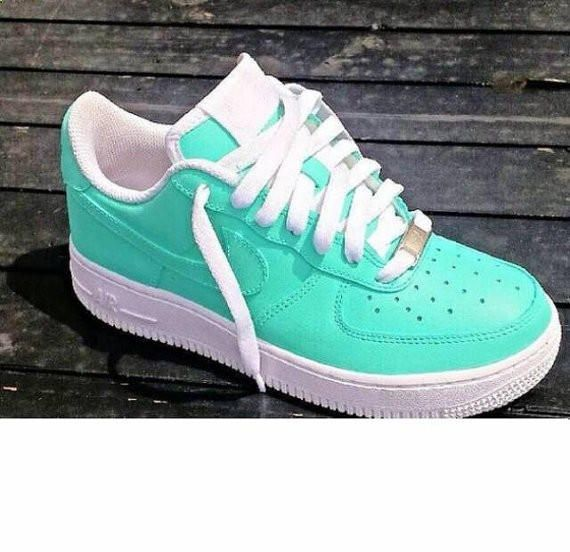 SeamFoam Green Lowz Nike Air Force Ones Custom Hand Painted Authentic Nikes from Superior Customz. Saved to Shoe Game.