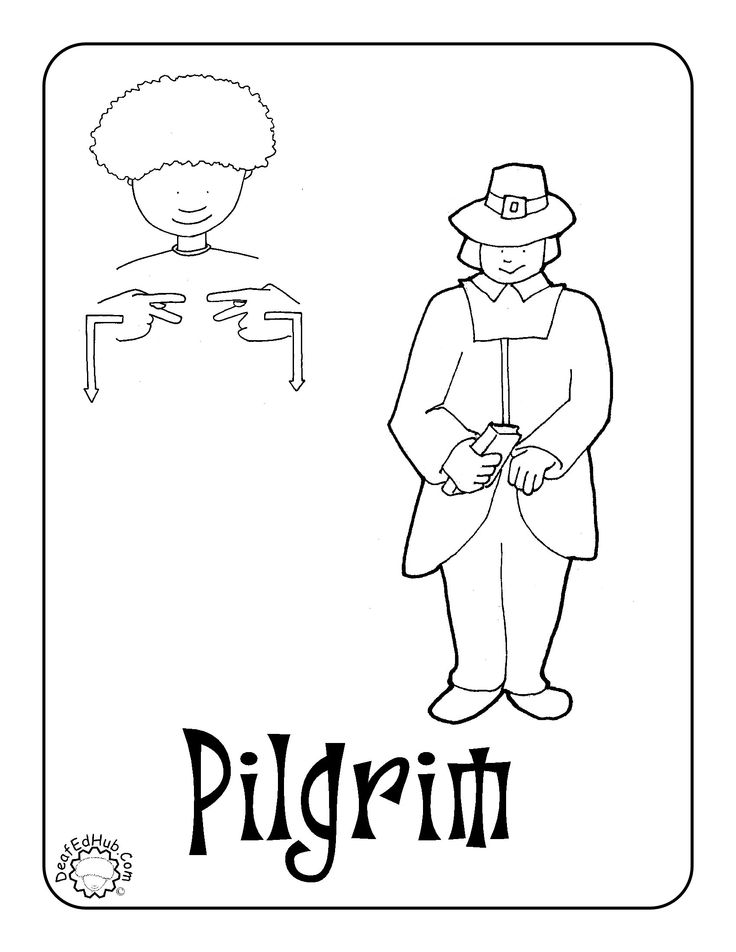 asl thanksgiving coloring pages