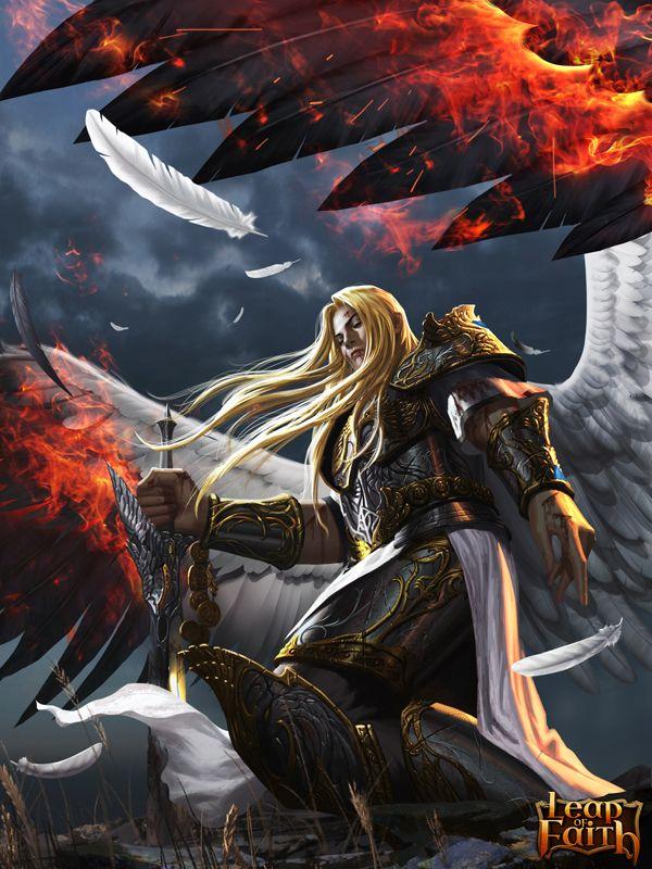 Maelstrom from my book.  (Fallen Angel Lucifer by ~robekka on deviantART)