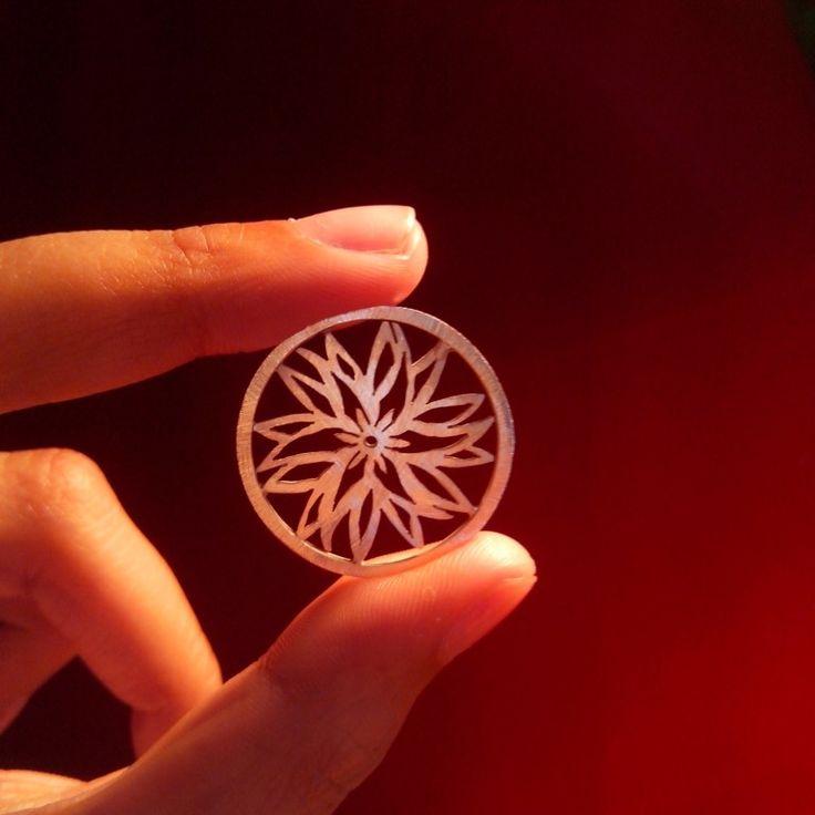 Mandala de la transformación calado 100% a mano