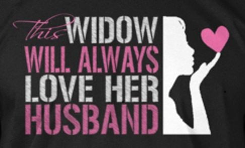 This widow will always love her husband <3