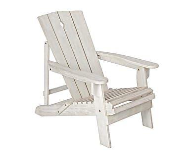 Sillón reclinable en madera de acacia Iria - blanco