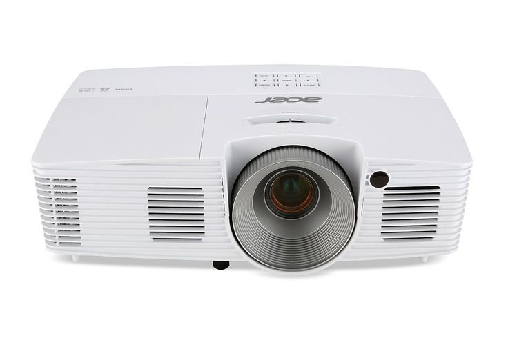 Acer X123PH XGA 3D DLP Home Theater Projector (2015 Model). White Brightness: 3000 ANSI Lumens (Standard), 2400 ANSI Lumens (ECO). Screen Size Range: 59-inches from 8 feet, 88-inches from 12 feet. Contrast Ratio: 13000:1; Keystone Correction: Yes. Warranty: 3 Years; Lamp Life: 5000 Hours (Standard) and 6000 Hours (ECO). Connectivity: Analog RGB/Component Video (D-sub), S-Video, HDMI.