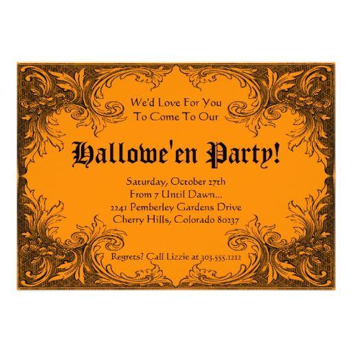 20 best halloween party invitation templates images on pinterest halloween party invitation elegant scrolls stopboris Images