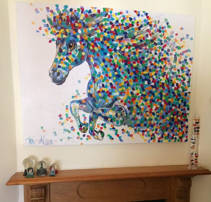 The Colour and Movement of Tracey Keller's Horse Painting | What's a PRIVATE COMMISSION?  Its when you ask me to paint a painting ESPECIALLY for YOU!  In this blog I explain the fun factor involved in a private commission.