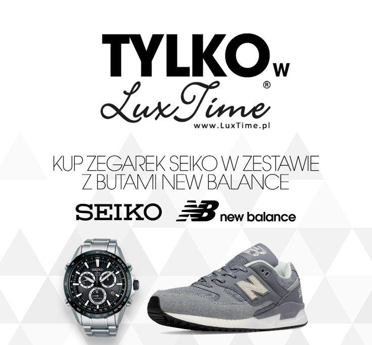 Przy zakupie zegarków seiko w zestawie do wyboru buty NewBalance https://luxtime.pl/zestawy-seiko-nb