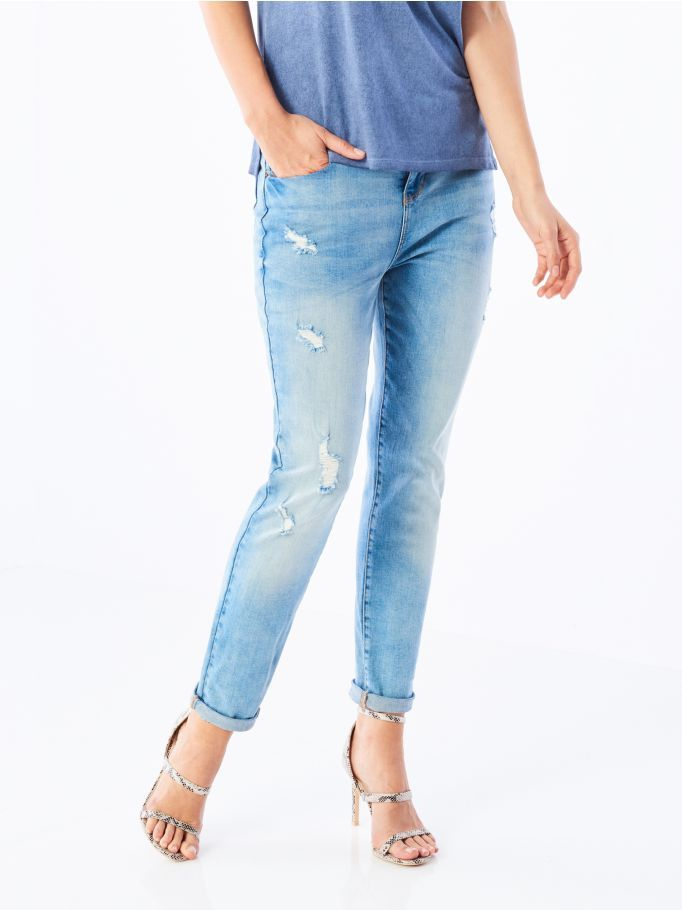 WORN EFFECT JEANS, MOHITO