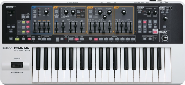 Roland SH01 GAIA Keyboard Reviews: Gaia Synth, Gaia Sh01, Music Products, Electronics Music, Roland Gaia, Music Technology, Gaia Sh 01, Electronics Instruments, Music Gears