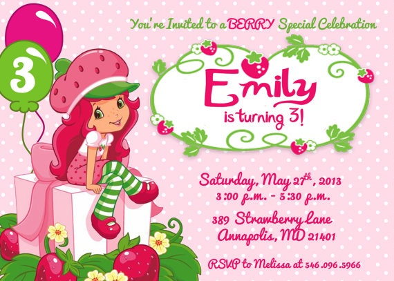 45 best strawberry shortcake images on pinterest | birthday party, Baby shower invitations