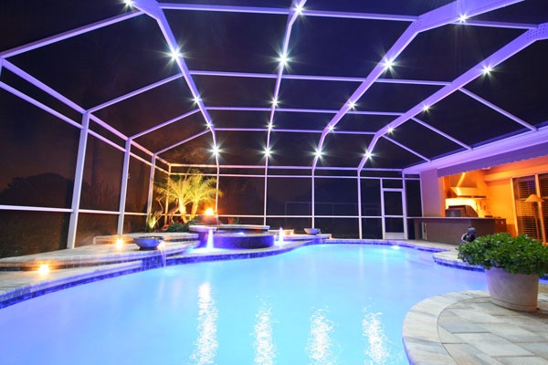 1000 images about nebula pool cage lighting on pinterest for Pool lanai cost