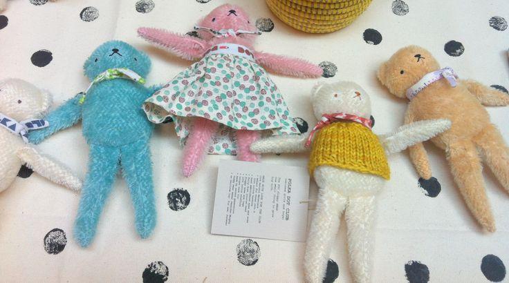 Polka Dot Club, handmade teddy bears