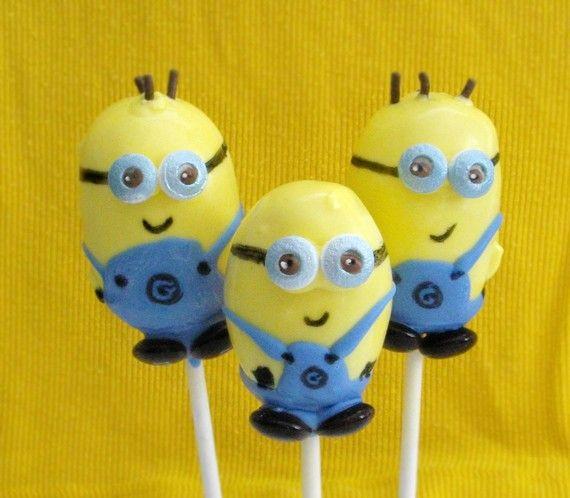 Minion Cake Pops by EntirelySweet on Etsy