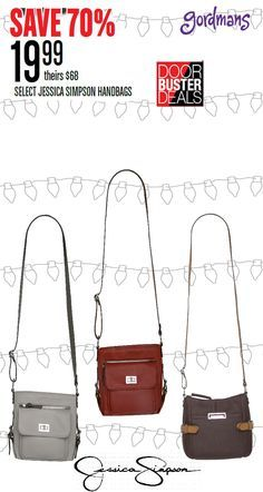 Get the cutest Jessica Simpson handbags for the Women on your Christmas list! Check out our Black Friday ad online now!
