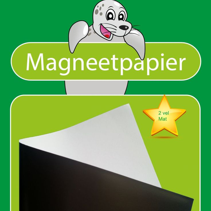 2 vellen magnetisch fotopapier voor het zelf afdrukken van pictogrammen met uw inkjetprinter
