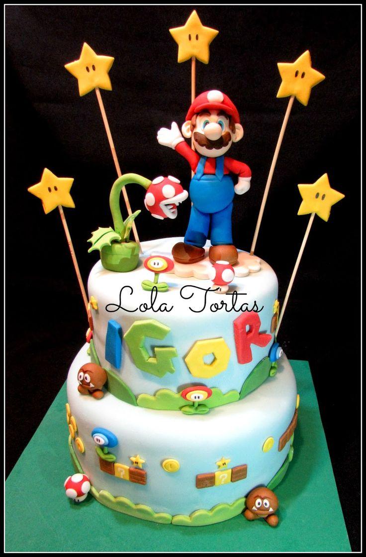Torta de Mario bros.  Mario Bros cake. Lola Tortas