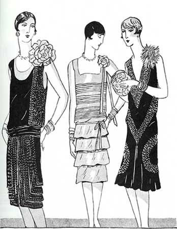1920's Style Dresses: From flapper dresses to Gatsby dresses - This site lists tons of amazing 20s vintage-reproduction dresses.