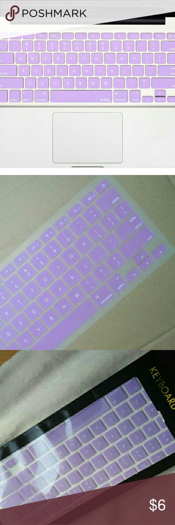 "MacBook keyboard cover BRAND NEW!!!Macbook Pro Keyboard Cover Color: Purple (lilac) Compatible with: MacBook Pro(13""/15""/17"") White MacBook(13"") MacBook with Retina(13""/15"") MacBook Air(13"")                         [PRICE IS FIRM]                   (Yes I can create bundles) Michael Kors Accessories Laptop Cases"
