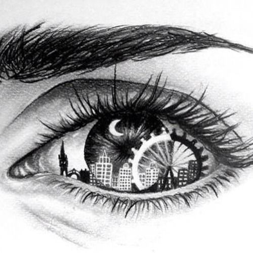City Drawing Cool Ideas Eye Drawings Creative Art