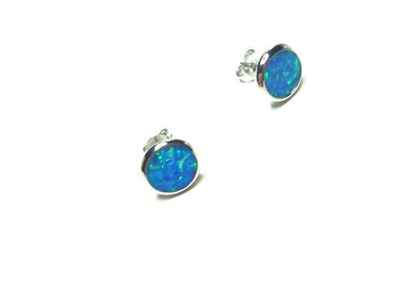 Blå Opal ørepynt