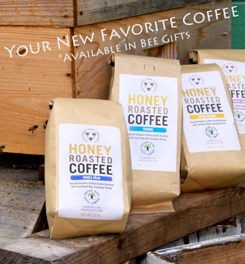 """Savannah Bee Company. A Christmas Affair vendor """"Savannah Bee Company"""" makes so many different honey products - bath items, marinades, baby care soap, sauces - but the thing I'm most excited to try is Honey Roasted Coffee!"""