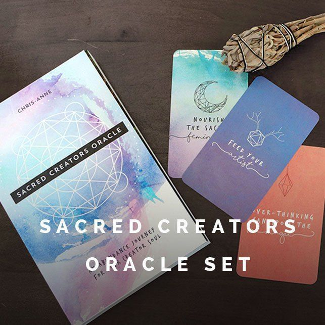 The Sacred Creators Oracle is in stock again! (Prices in USD) The Sacred Creators Oracle Deck is a deck of 67 oracle cards that will help you to align your intuition and your inner wisdom with your strategies and your launch plans. As you build your big sacred dream, there are moments when you will benefit from a daily mantra, a meditation - and a thought provoking idea about where you are headed. This deck provides a fun and simple way to push yourself to think differently and to solve…