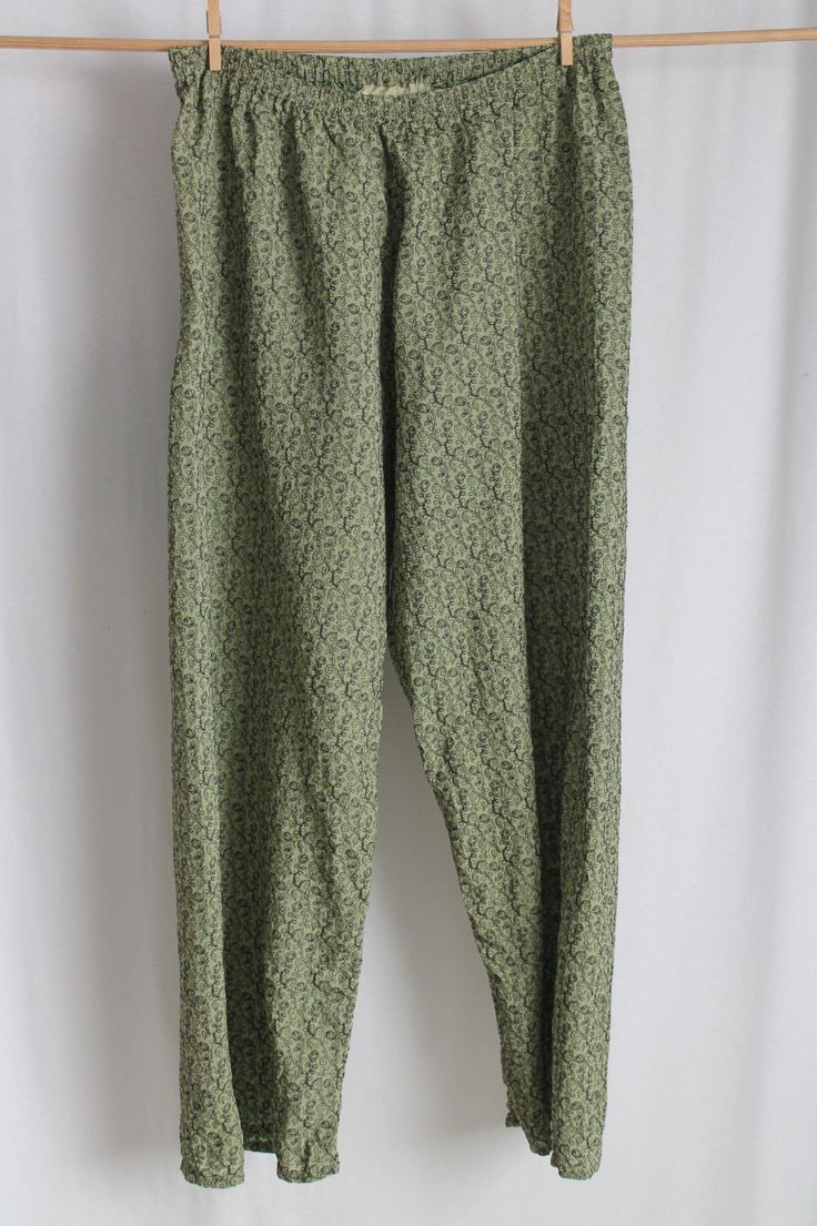 cocon.commerz PRIVATSACHEN MOOSLASSEN Hose aus bestickter Seide in grün Gr. 2 | eBay