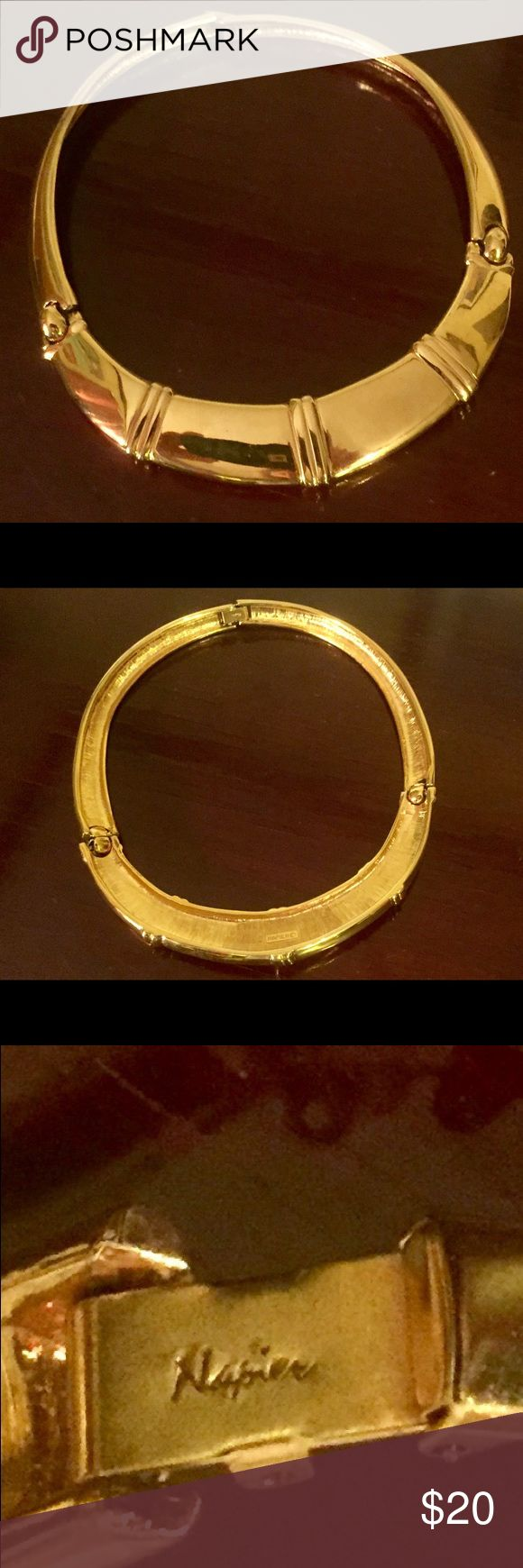 Vintage Napier Gold Choker Stunning vintage gold Napier choker divided into three sections with secure clasp closure.  Offers are always welcome🛍 Napier Jewelry Necklaces
