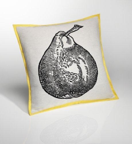 """M """"Conran Jacquard Pear Cushion"""""""