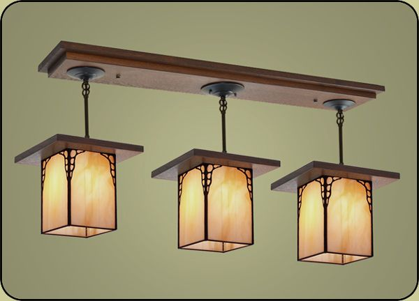 Large Light Fixture For Craftsman And Mission Style Dining Rooms. You Can  Select Colors, Finishes And Hanging Heights To Fit Your Home. Part 45