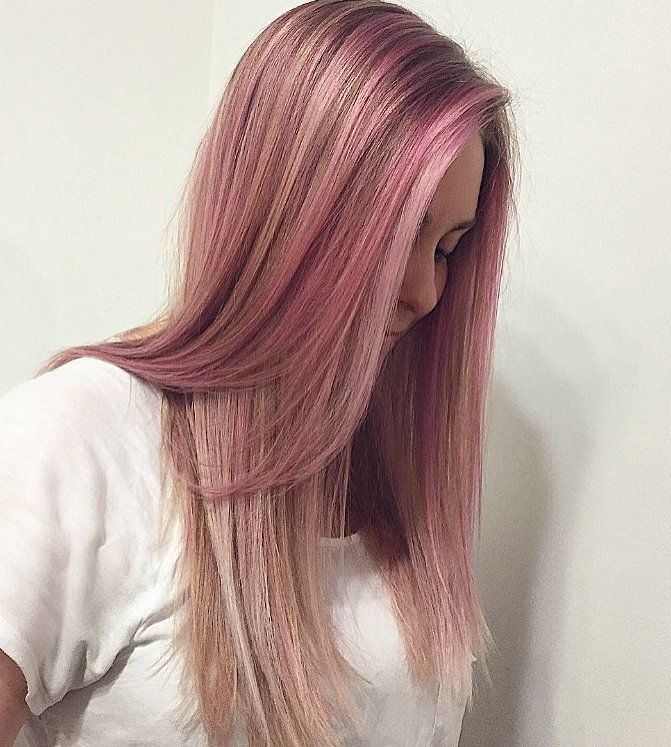 Blonde Hair With Pink 53