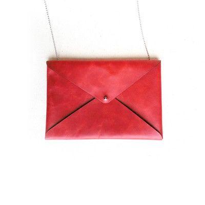 Cartera en forma de sobre (Color: Rojo)