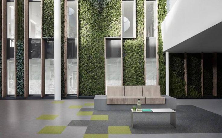 Natural office design with Desso carpet floors